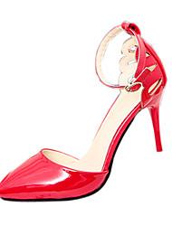 Chaussures Femme-Mariage / Soirée & Evénement-Noir / Rouge / Blanc-Talon Aiguille-Talons-Talons-Matières Personnalisées