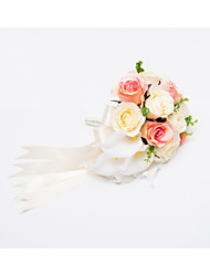 "Wedding Flowers Cascade Roses Bouquets Wedding Party/ Evening Satin 11.8""(Approx.30cm)"