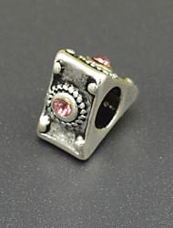 bracelet en perles bricolage accessoires de placage collier en argent de mode triangle discrédit perles incrustés cz lampwork hac0059