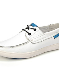 Men's Shoes Office & Career / Casual Leather Boat Shoes White