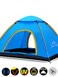 / 3-4 persons Tent Triple Automatic Tent One Room Camping Tent 1000-1500 mm Oxford OtherWaterproof Breathability Ultraviolet Resistant