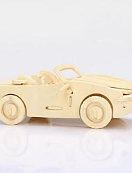 3d puzzles brinquedos educativos sólidos do puzzle de madeira para crianças modelo de madeira quebra-cabeça carrinho pequeno tesouro