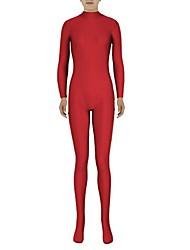 Collants Morphsuit Ninja Costume Zentai Costumes de Cosplay Rouge Couleur Pleine Collant/Combinaison Costume Zentai Spandex Lycra Unisexe