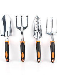 Garden Tools 4 Piece Tool Set includes Trowel, Cultivator,  Trans-planter and a Fork.