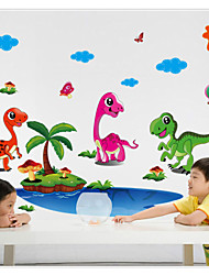 LC6007 Wall Stickers Dinosaur and Coconut Palm Home Decoration Cartoon Living Room Animals Print Decals Mural Art Poster