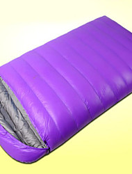 1800g Duck Down Nylon Taffeta Lining Double Rectangular Bag for Camping and Hiking