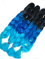 32inch (82cm) long 165g Black /Dark Blue /Light Blue Synthetic Braiding Hair  Kanekalon Xpression Braiding Hair