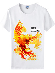 Flaming Light® World of Warcraft Wow Series Heroes Fire Phoenix Cosplay T-Shirt Cotton Lycra