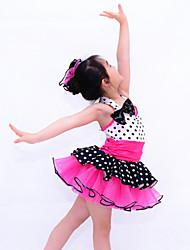 Roupas de Dança para Crianças Tutus Crianças Actuação Elastano / Seda tecida com Cetim / OrganzaArco(s) / Pano / Plissado / Amarrotado /