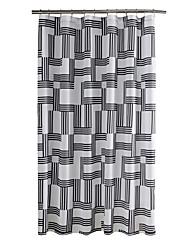 Mordern Grey Plaid Polyester High Quality Shower Curtains 72ix72inch(180x180cm)