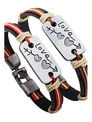 Legering / Leder-Lederen armbanden-Armbanden- voorFeest / Dagelijks / Causaal / Sport-1pc