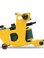 vente chaude machine professionnelle main tattoo machine 10 bobines de pellicule pour shader liner couleur jaune
