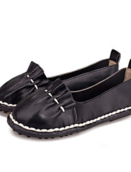 Women's Shoes Leather Low Heel Boat / Comfort Boat Shoes Wedding / Outdoor / Office & Career / Party & Evening