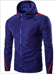 Men's Long Sleeve Jacket Casual Color Block