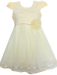 Girls  Flower Mesh Party Pageant Wedding Lovely Children Clothes Dresses