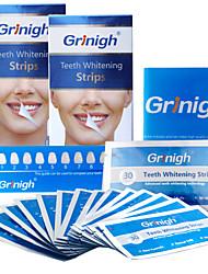 grinigh® отбеливание зубов полоски включает в себя натуральные ингредиенты и нулевой пероксид для белой улыбки - 28 лечение