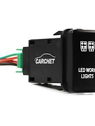 для Тойота нажимной переключатель с разъемом провода комплект лазера водить символ огни работы белый