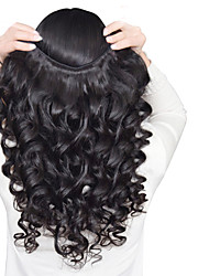 Mix Size 3Pcs/Lot 8-26inch Peruvian Virgin Hair Loose Wave Black Color Raw Human Hair Weaves .