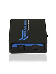 spdif / Toslink audio numérique optique 2 * 1 switcher avec ir CE à distance fcc rosh certifié