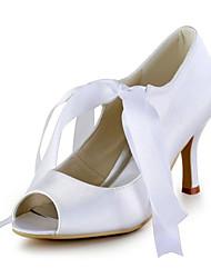 Women's Wedding Shoes Heels / Peep Toe Sandals Wedding / Party & Evening / Dress White