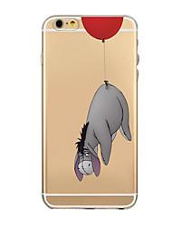 iphone 7 mais bonito do padrão de animais dos desenhos animados TPU caso de volta suave tampa transparente para iphone 6s 6 mais