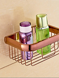 Rose Gold Bathroom Accessories Brass Material Toilet Paper Holder