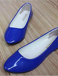 Women's Shoes Leatherette Flat Heel Comfort Flats Outdoor / Casual