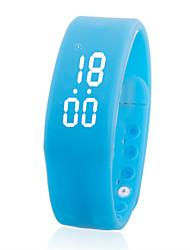 W2 Pulseira Inteligente / Monitor de AtividadePedômetros / Relogio Despertador / Compartilhamento em Redes Sociais / LED / Cronómetro /