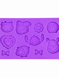 Hippo Stitch Bear Hello-K Designs Fondant and Gum Paste Silicone Mold Cute Cookie Cake Decorting Tools
