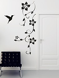 Romance / Mode / Floral Stickers muraux Stickers avion,PVC M:42*100cm / L:55*130cm
