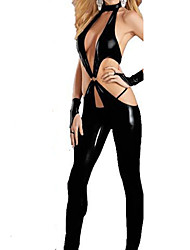 Women's PVC Leather Catsuit Zentai Clubwear Fancy Dress Catwomen Plus Size