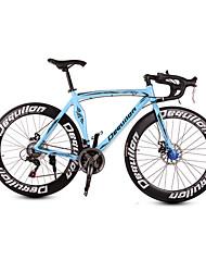 Dequilon aluminum road bike 21/18/16 muscle machete-speed disc brakes clear blue 21-speed Sport