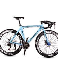 Estrada da bicicleta de alumínio dequilon 21/18/16 musculares freios a disco facão velocidade clara azul do esporte 21-speed