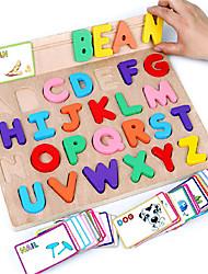 stéréo bois lettre jouet puzzle