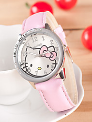 Kids' European Style Fashion Shiny Rhinestone Cute Cat Child Watch Cool Watches Unique Watches