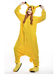 kigurumi Pyjamas New Cosplay® / Pika Pika Collant/Combinaison Fête / Célébration Pyjamas Animale Halloween Jaune Mosaïque Polaire Kigurumi