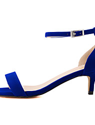 Women's Shoes Fabric Stiletto Heel Heels / Open Toe Sandals Office & Career / Dress / CasualBlack / Blue / Yellow