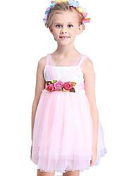Girl's Pink Dress Polyester Summer