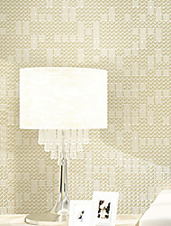 PALUTON Art Deco Wallpaper Contemporary Wall Covering,Non-woven Paper Plain Solid Color Mosaic