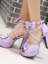 Women's Shoes Chunky Heel Peep Toe / Platform / Open Toe Sandals Party & Evening / Dress / CasualBlack / Pink / Purple /