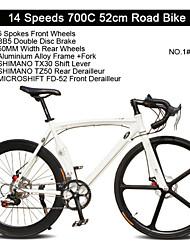 14 velocidades de 5 raios + 60mm rodas traseiras de bicicleta de estrada curva freio a disco de liga de alumínio tl ™ 700c bicicleta