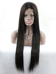 Seide gerade Großhandel billig natürliche Haar 100% nicht verarbeitete reine malaysische Menschenhaar volle Spitzeperücke mit dem Babyhaar
