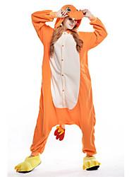 kigurumi Pyjamas New Cosplay® Dragon Collant/Combinaison Fête / Célébration Pyjamas Animale Halloween Orange Mosaïque Polaire Kigurumi