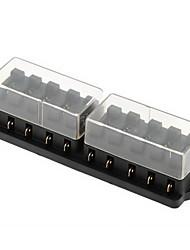 12v 10 manière circuit de support de boîte à fusibles de la lame automobile de camion de voiture ato atc