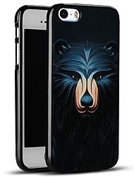 bonito urso caso de volta protetora macia, tampa do iphone para iphone SE / iphone 5s / 5