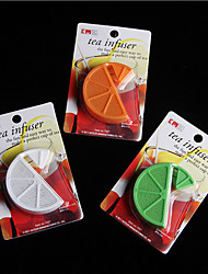 Organge Shape Tea Strainer Filter Bag Lemon Plastic Tea Infuser Randomly Color