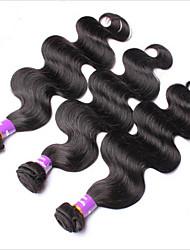 3pcs viel brasilianische reine Haarkörperwellen-Menschenhaarverlängerungen natürliche schwarze Haare webt