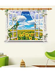 Botanical / Still Life / Landscape Wall Stickers 3D Wall Stickers,pvc 60*90CM