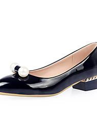 Women's Shoes Low Heel Pointed Toe Heels Office & Career/Dress Black/Pink/Red/White
