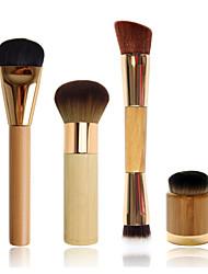 plat pinceau fond de teint + brosse aérographe finition bambou + brosse à double extrémité contournage + airbuki fond de teint poudre